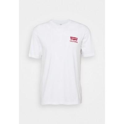 リーバイス メンズ Tシャツ トップス RELAXED FIT TEE UNISEX - Print T-shirt - white white