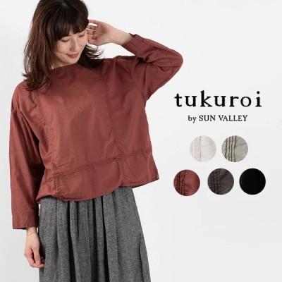 tukuroi by SUN VALLEY ツクロイ ピンタックブラウ TK607203 サンバレー sunvalley 綿 麻 リネン ナチュラル服 40代 50代 大人かわいい