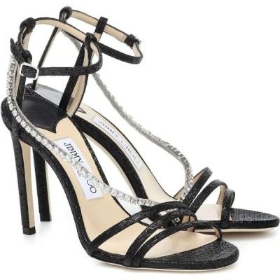 ジミー チュウ Jimmy Choo レディース サンダル・ミュール シューズ・靴 Thaia 100 embellished sandals Black
