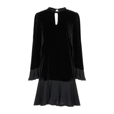 ツインセット シモーナ バルビエリ TWINSET ミニワンピース&ドレス ブラック 38 レーヨン 82% / シルク 18% ミニワンピース&ド