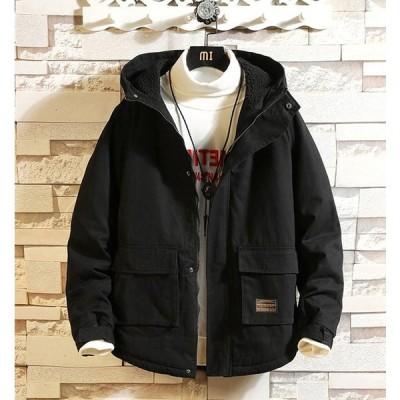 ミリタリージャケット メンズ 無地 フード 裏ボア 在庫限り価格 通常売価9,980円