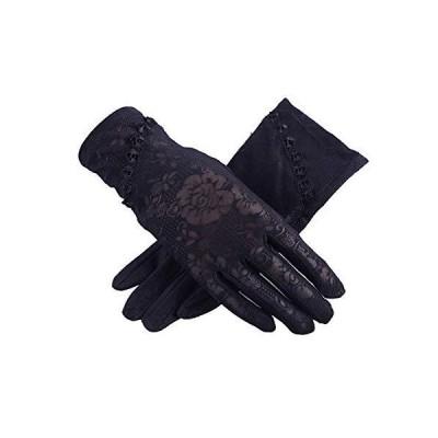 VIDOSCLA レディースグローブ 手袋 滑止め付 uvカット 日焼け対策 レース 薄型 紫外線対策 タッチパネル対応 スマ?