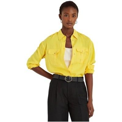 ラルフローレン シャツ トップス レディース Petite Linen Shirt Lemon Rind