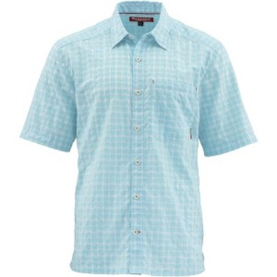 シムズ メンズ シャツ トップス Morada Short-Sleeve Shirt - Men's Mist Plaid