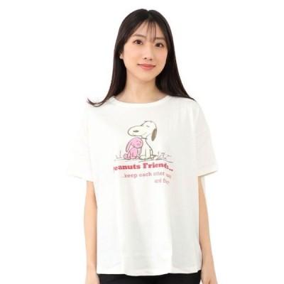 スヌーピー プリント 半袖 Tシャツ プレミアム M L