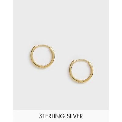 エイソス ASOS DESIGN メンズ イヤリング・ピアス ジュエリー・アクセサリー sterling silver chunky hoop earrings in 14k gold plate ゴールド