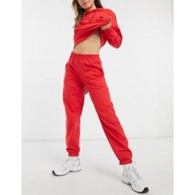 ニュールック レディース カジュアルパンツ ボトムス New Look cozy cuffed sweatpants in bright red Bright red