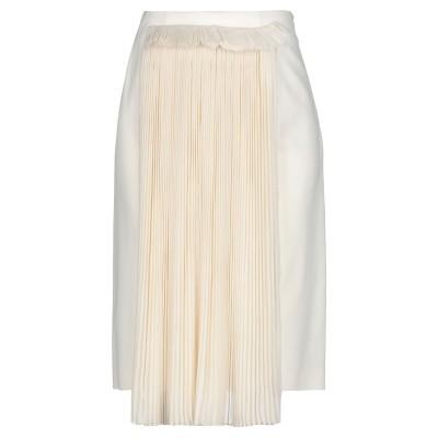 メゾン マルジェラ MAISON MARGIELA ひざ丈スカート アイボリー 40 バージンウール 97% / ポリウレタン 3% / アセテート