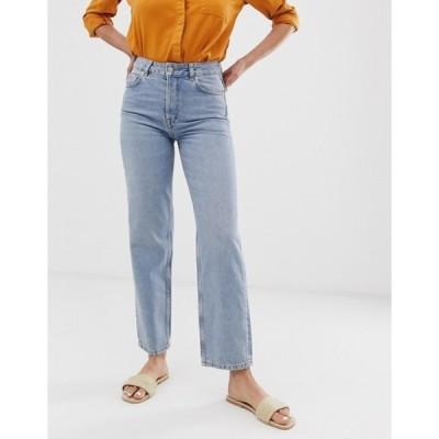 セレクティッド レディース デニムパンツ ボトムス Selected Femme straight mid blue jeans