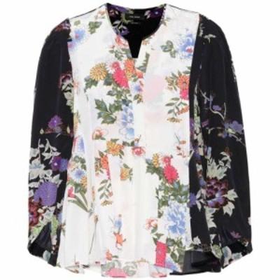 イザベル マラン Isabel Marant レディース ブラウス・シャツ トップス Ivia floral-printed silk blouse Black/Ecru