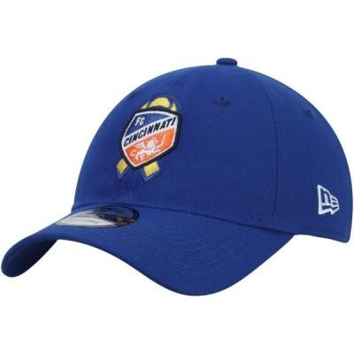 ユニセックス スポーツリーグ サッカー FC Cincinnati New Era MLS Works Kick Childhood Cancer 9TWENTY Adjustable Hat - Blue - OSFA
