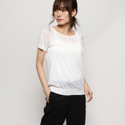 リネーム Rename 丸首半袖カットソー (ホワイト)