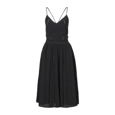 セッスン SESSUN 7分丈ワンピース・ドレス ブラック L ポリエステル 60% / レーヨン 40% 7分丈ワンピース・ドレス