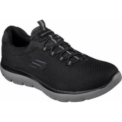 スケッチャーズ メンズ スニーカー シューズ Men's Skechers Summits Training Sneaker Black/Charcoal