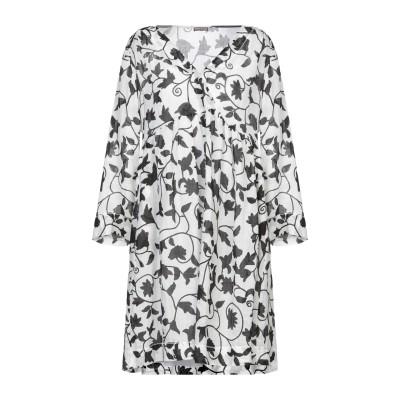 MALÌPARMI ミニワンピース&ドレス ホワイト 40 ラミー 100% ミニワンピース&ドレス