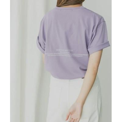 KBF/ケービーエフ KBF+ MRバックプリントTシャツ PURPLE one