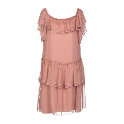 アルベルタ フェレッティ ALBERTA FERRETTI ミニワンピース&ドレス パステルピンク 42 シルク 100% ミニワンピース&ドレス