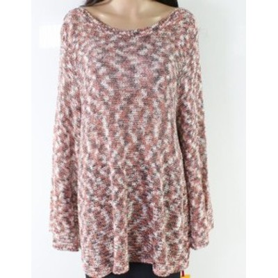 Marled  ファッション トップス Ruby Rd. NEW Red Womens Size 3X Plus Marled Knit Scoop Neck Sweater