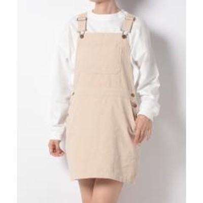 WEGO(ウィゴー)コーデュロイジャンパースカート