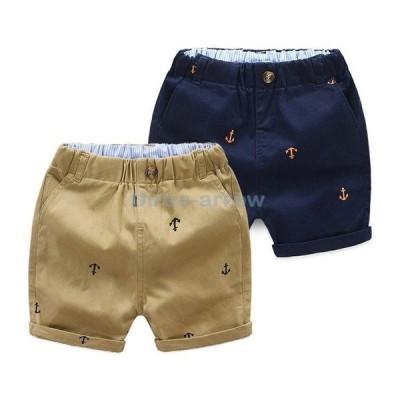 ハーフパンツ5分丈 夏 子供服 ベビー キッズ 男の子 カジュアル おしゃれ 綿100% ズボン