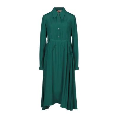 ヌメロ ヴェントゥーノ N°21 7分丈ワンピース・ドレス グリーン 40 アセテート 69% / シルク 31% 7分丈ワンピース・ドレス