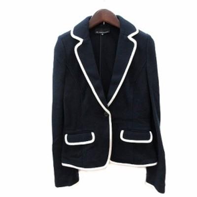 【中古】エムプルミエ M-Premier テーラードジャケット シングル ライン 38 紺 ネイビー /AU レディース