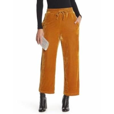 Gold ゴールド ファッション パンツ Elodie Womens Gold Size Small S Velvet Straight Leg Drawstring Pants #559