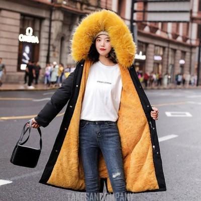 レディース中綿ダウンコート 30代 ロング丈 軽い 秋冬 アウター 中綿コート 中綿ジャケット裏起毛 ダウン風コート フード付き 厚手 暖かい 大きいサイズ スリム