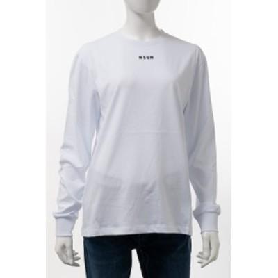 エムエスジーエム MSGM ロングTシャツ ロンT 長袖 丸首 クルーネック 2941MDM82 207798 01 ホワイト レディース (2941MDM82207798) 2020