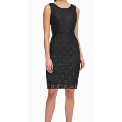 DKNY ダナキャランニューヨーク ファッション ドレス DKNY Womens Dress Black Size 4 Sheath Circle Lace Sleeveless Knit