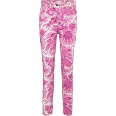 エトロ Etro レディース ジーンズ・デニム ボトムス・パンツ High-rise paisley skinny jeans Rosa