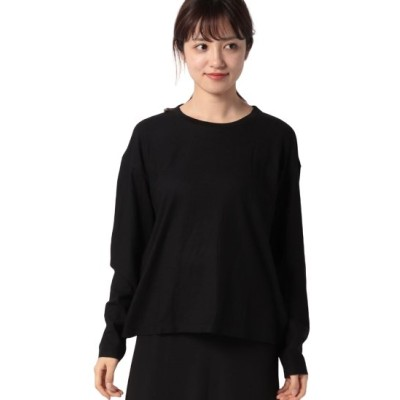 (BENETTON (women)/ベネトン レディース)ルーズフィットロングTシャツ・カットソー/レディース ブラック