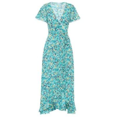 プーペット セント バース Poupette St Barth レディース ワンピース ラップドレス ワンピース・ドレス joe floral wrap dress Green Rose