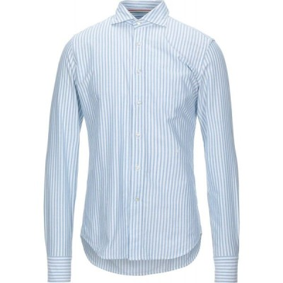 ハイドロゲン HYDROGEN メンズ シャツ トップス Striped Shirt Sky blue