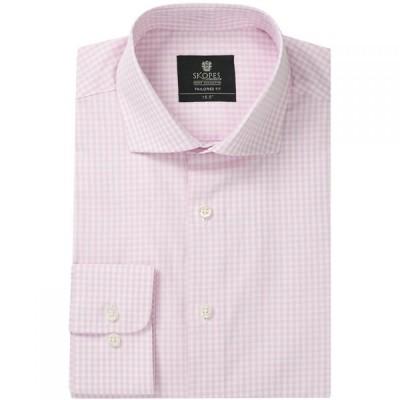スコープス Skopes メンズ シャツ トップス Tailored Fit Formal Shirt Pink