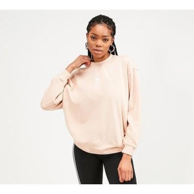アディダス adidas Originals レディース スウェット・トレーナー トップス essential sweatshirt Halo Blush