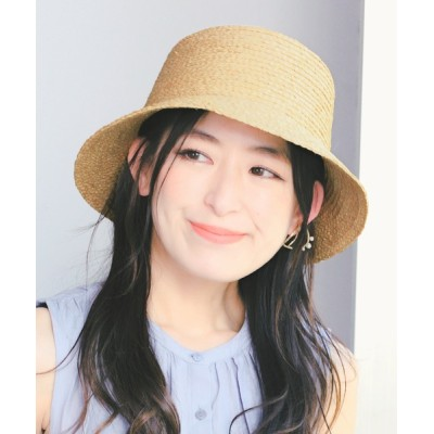 14+(ICHIYON PLUS) / ラフィアブレードバケットハット WOMEN 帽子 > ハット