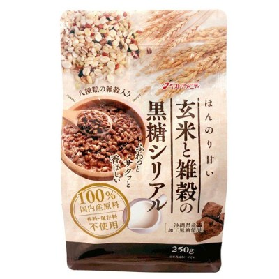 ベストアメニティ玄米と雑穀の黒糖シリアル 250g