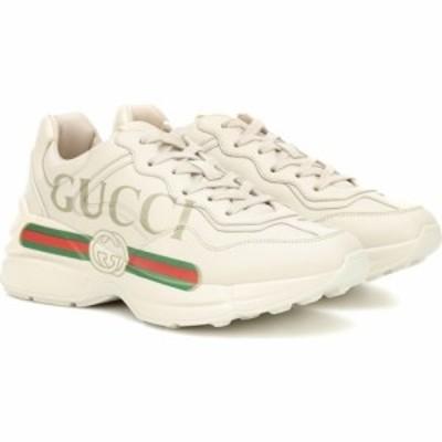 グッチ Gucci レディース スニーカー シューズ・靴 rhyton leather sneakers Ivoire