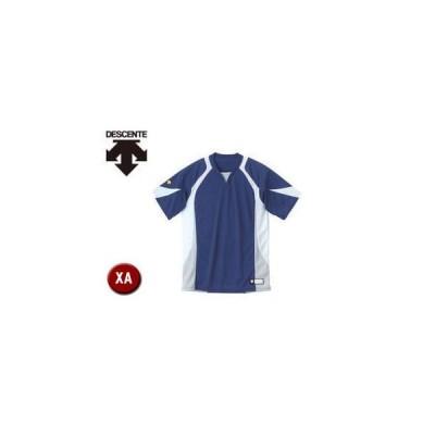 DESCENTE/デサント  DB113-NVWH セカンダリーシャツ 【XA】 (ネイビー×ホワイト×シルバー)