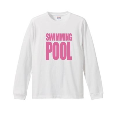 """スクエア ロゴ 長袖Tシャツ """"SWIMMING POOL"""""""