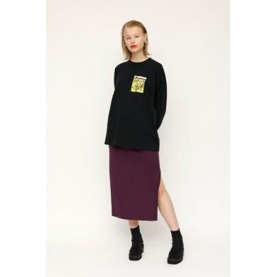 スカート SIDE SLIT MG ミドルゲージミディスカート