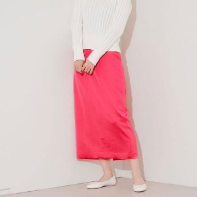 ルージュヴィフ ラクレ Rouge vif la cle ウールサテンスカート (ピンク)