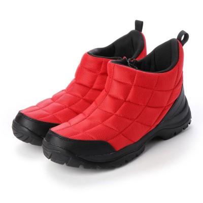 ジーノ Zeeno レインブーツ 防水 防寒  メンズブーツ スノーシューズ レインシューズ ジップアップ 軽量 雪 雨 靴 (レッド)