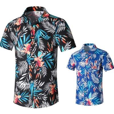 アロハシャツ メンズ  半袖 ハワイアンシャツ 大きいサイズ  ハワイアンスタイル プリント柄 シャツ オシャレ  トレンド  開襟 夏 ビーチ カジュアル 旅游