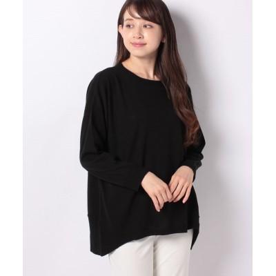 (Ranan/ラナン)裾切替ニットプルオーバー/レディース ブラック