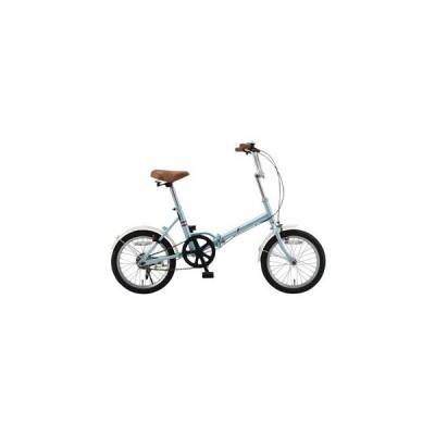 f(エフ)  エフ 16型折りたたみ自転車 ワイヤーロックセット アクアブルー  FF−Y16+PB−L2/