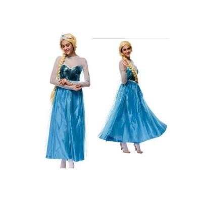 ハロウィン 大人用 ドレス シンデレラドレス プリンセスドレス   コスプレ 衣装 レディース コスチューム なりきりワンピース お姫様 仮装衣装 シンデレラ コス