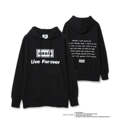 アダム エ ロペ オム/【oasis for ADAM ET ROPE'】SONG LYRICS PARKA/UNISEX/ブラック系/LL