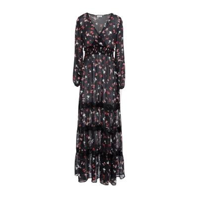 リュー ジョー LIU •JO ロングワンピース&ドレス ブラック 38 ポリエステル 100% / ナイロン ロングワンピース&ドレス